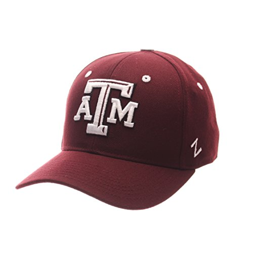 (ZHATS NCAA Texas A&M Aggies Men's DH Fitted Cap, Maroon, Size 7 3/8)