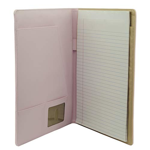 Buxton Pebble Grain Synthetic Writing Pad Features 2 Large Document Pockets On Inside Front Cover (ST51006.PK)