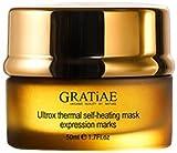 Gratiae Facial Serum - Gratiae Organics Ultrox Expression Marks Self Heating Thermal Mask, 1.7 Ounce