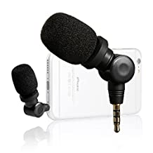 Saramonic SmartMic Mini Flexible Condenser Microphone with High Sensitivity for Apple IOS iPhone 7 7 plus 6 6s 5 5s iPad and Android Smartphones