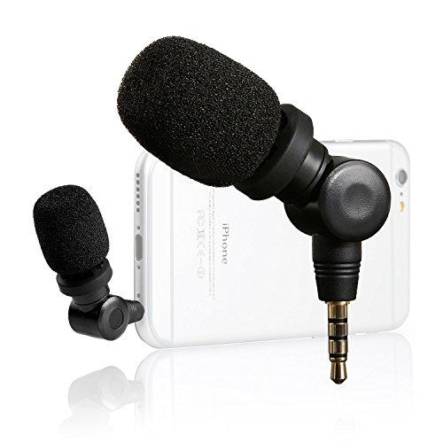 Cheap Studio Recording Equipment Saramonic SmartMic Mini Flexible Condenser Microphone with High Sensitivity for Apple IOS..