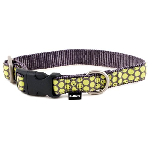 Dog Collars Dotted Ribbon (PetSafe Fido Finery Quick Snap Dog Collar, 1-Inch, Large, Dotted Bliss)