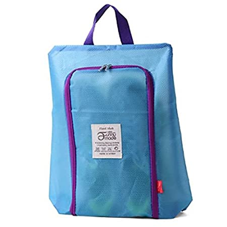 1a8a3d3033d Shoes Laundry Bag Waterproof Mesh Zipper Sneaker Dry Bag Organizer Keeper -  Blue  Amazon.co.uk  Kitchen   Home