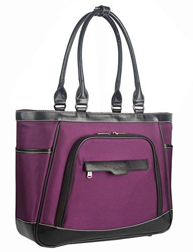 Shoulder Bag Women Bag Coolbell Waterproof Bag / Hand Bag Fashion Package / Light / Durability And Laptopstand Casual Canvas Bag (black) Violet