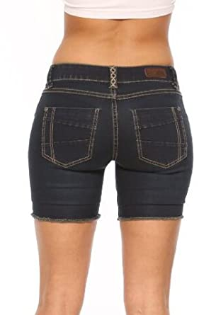 Rubberband Stretch Women s 6 Inch Shorts (Sarina Blue Black) Size 26(3 edd3d654fd