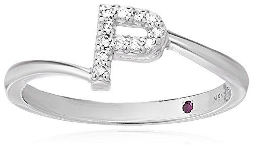 Roberto Coin Women's 001634AWLRXP Diamond Initial Ring, White, Size 7 ()