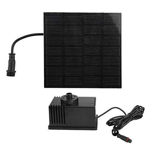 Vanpower Motor Solar Panel Power Fountain Pump Kit by vanpower
