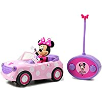 Jada Toys Disney Junior Minnie Mouse Roadster RC Car with Polka Dots, 27 MHz