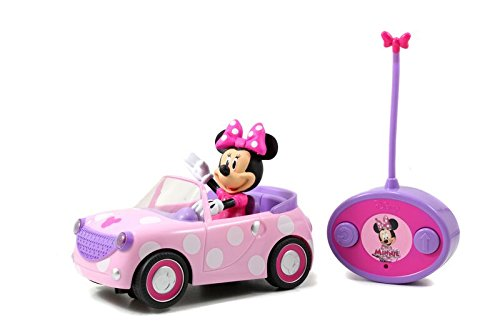 Jada Toys Disney Junior Minnie Mouse Roadster RC Car with Polka Dots, 27 MHz]()