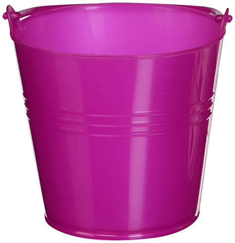 Fun Express Bright Hot Pink Plastic Pails (1 Dozen) (Pink Pail)