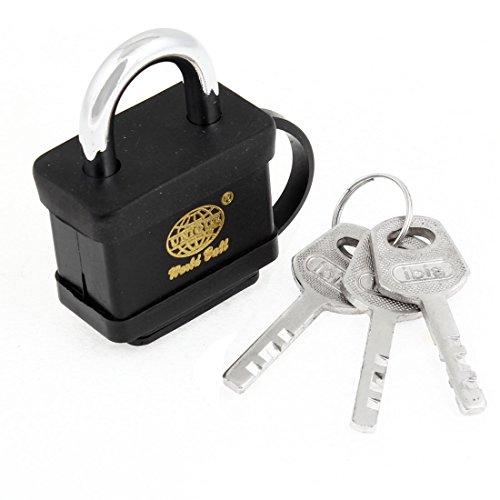 uxcell Security Family Office Door Gate Black Waterproof Lock w 3 Keys Padlock by uxcell