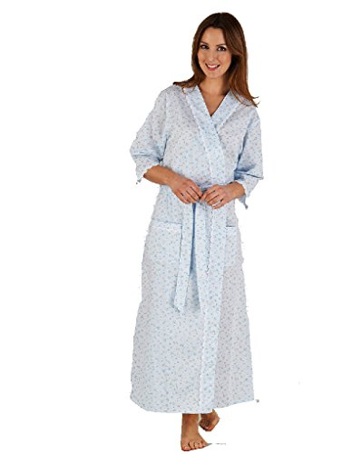 Slenderella Kimono Long - Bleu à ImpriméFleuri HC5208