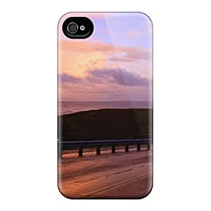 FMMAbkf1267MJwQm Mwaerke Lighthouse At The End Of Oregon Highway Feeling Iphone 4/4s On Your Style Birthday Gift Cover Case