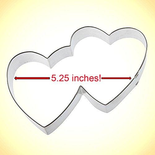 Foose Double Heart Cookie Cutter 5.25 in