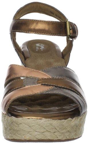 Softwalk St Helena Damen Metallische Leder Keil Sandalen Schuhe Neu EU 42