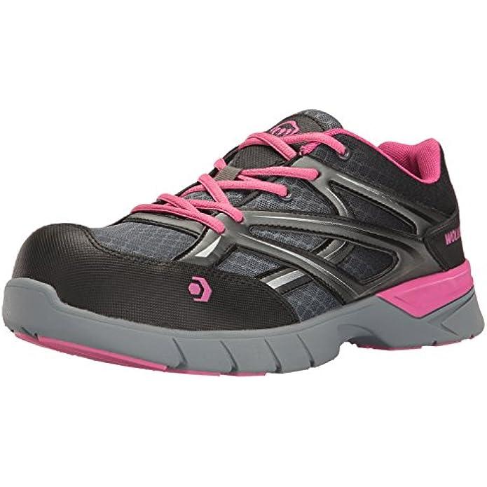WOLVERINE Women's Jetstream Athletic Comp Toe Work Shoe