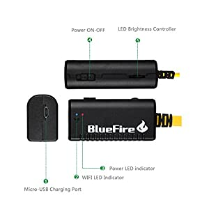 BlueFire Rigid Flexible WiFi Endoscope IP66 Waterproof Borescope HD Resolutions Inspection Snake Camera with 6 Adjustable LED Lights for All iPhones(Above IOS6) / iPads / Android Phones / Tablet PC