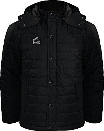Admiral Thermal Soccer Sideline Rain/Cold Jacket, Black/Silver, Adult Large