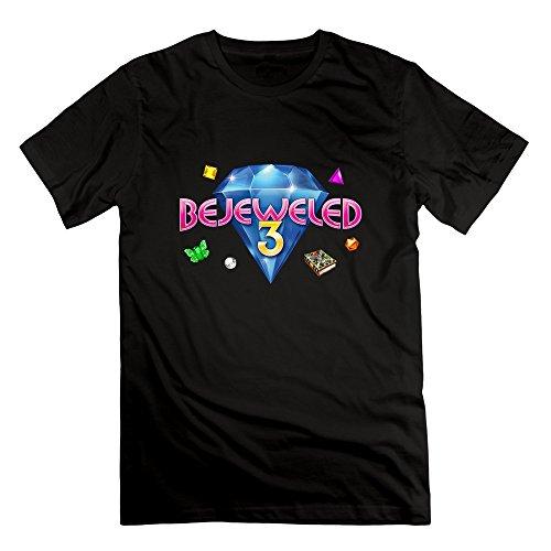 PingAnShu Men Cotton Bejeweled 3 T Shirts (Bejeweled Cotton Jersey)