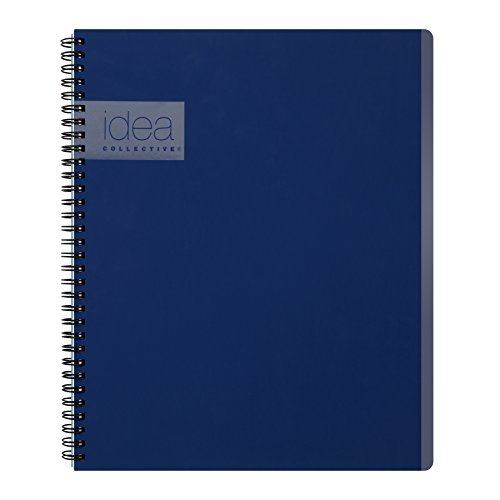 Wire Action Double (Oxford Idea Collective Action Notebook, Double Wire-O, 11 x 8 1/4, Ruled, 80 Sheets, Blue (57021IC))