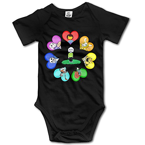 HYRONE Under Game Tale Baby Bodysuit Long Sleeve Climbing Clothes Size 24 Months Black