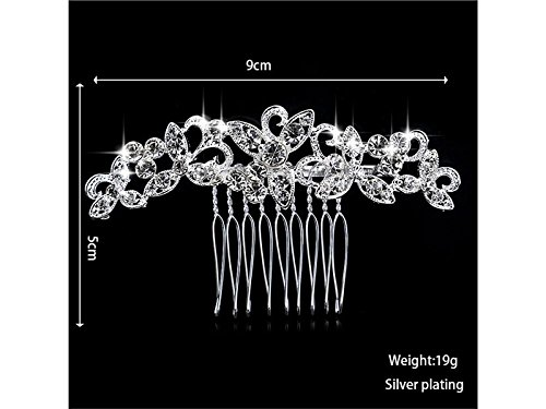 Diamond Comb Women's Enable Jewelry Wesoce Headdress Crystal Hair Bridal Bride YrwtY15dq