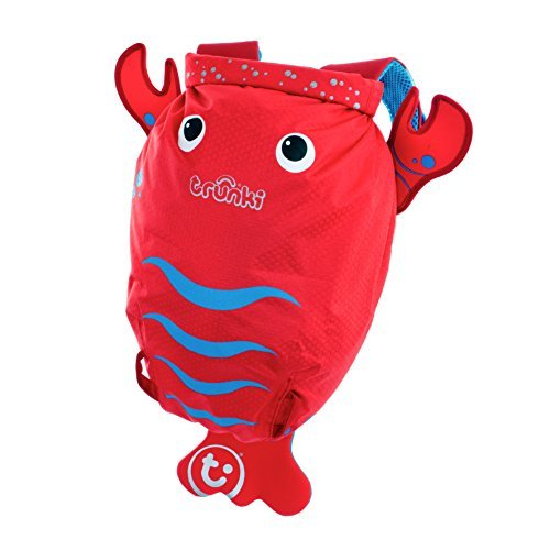 Trunki Lobster Paddle Pak Water Resistant Backpack, Red by Trunki