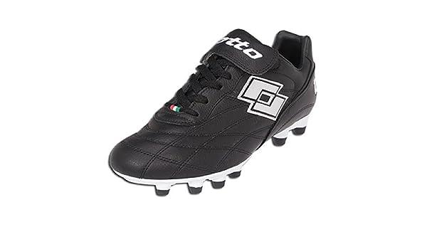 b1735a52f275 Amazon.com | Lotto G2297 Primato LX FG JR Black/Chrome Soccer Cleat Size 5  | Soccer