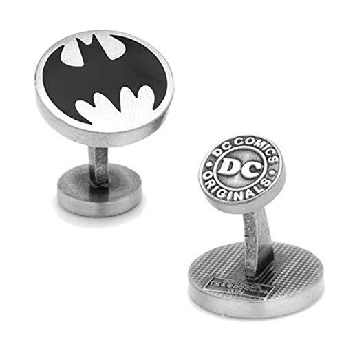 Cufflinks DC Mens Metal Vintage Batman Logo (Silver-Tone) ()