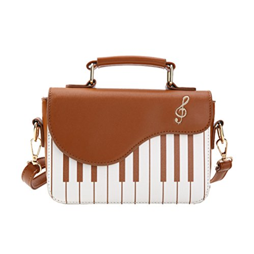 Flap Brown Handbag Bags Crossbody Piano Top Design Women Handle Shoulder AqBnCwB6