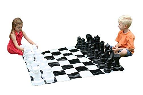 Garden Games Junior Jumbo Chess with 4' x 4' Mat