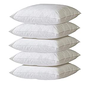NARMIS White Polyester Cushion Fillers, Hotel/Home Quality Hollow Fiber Filler, Medium-Sized Ultra Soft Pillows, Set of…