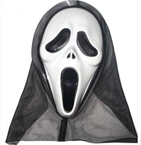 Festive Atmosphere Ornament Halloween Horror Mask Masquerade Grimace Scream Skull Ghost Mask Party Novelty Prop Novelty Decoration (Color : B Style) ()