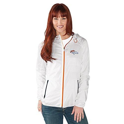 GIII For Her NFL Damen Spring Training Leichtes Full Zip Jacke, Damen, G34Her Spring Training Light Weight Jacket, weiß, Small