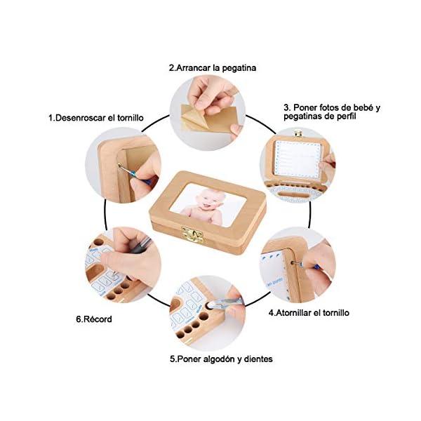 Luchild caja dientes leche ESPAÑOL, Caja para guardar dientes para niños y niñas, Regalo para niños en madera de… 8