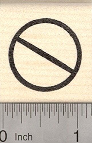 Universal No Symbol - Universal No Symbol Rubber Stamp, Circle with Slash