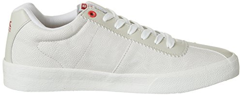 British Knights Solar, Men's Low-Top Sneakers Weiß (Off White/Red)