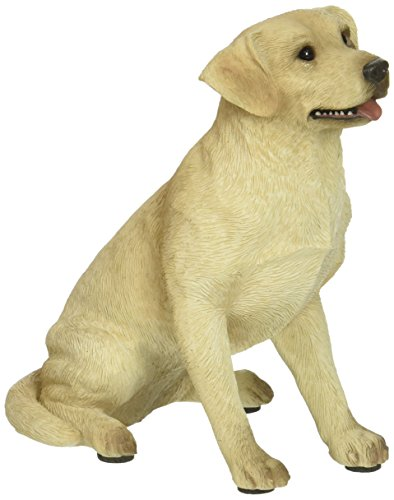 Sandicast Mid Size Yellow Labrador Retriever Sculpture - (Yellow Labrador Dog Figurine)