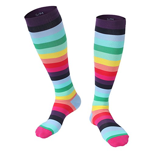 Compression Socks for Women Best For Sports,Flight Travel,Running,Nursing,Pregnancy,Promote Blood Circulation,Relief Heel,Ankle Pain-1 Pair