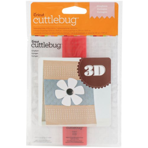 Cuttlebug 3D A2 Embossing Folder/Border Set-Gingham