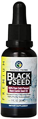 Amazing Herbs Black Seed Cold-Pressed Oil - 1oz - 1 Oz Semi