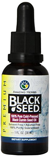 Black Cumin Seed (Amazing Herbs Black Seed Cold-Pressed Oil - 1oz)