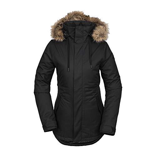 (Volcom Women's Fawn Insulated Snow Jacket, Black, Medium)