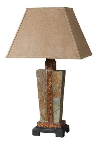 2-Light Table Lamp in Dark Bronze Finish
