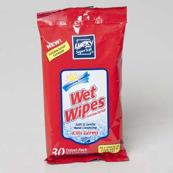 WET WIPES 30CT 144PC DISPLAY ANTI-BACTERIAL TRAVEL PACK, Case Pack of 144 by DollarItemDirect
