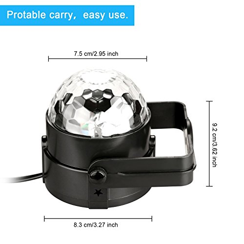 Coidea Dj Light Disco Ball Led Party Stage Light Rgb 7