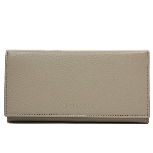 Gucci Business Card Holder (Gucci Beige Leather Continental Flap Wallet 305282)