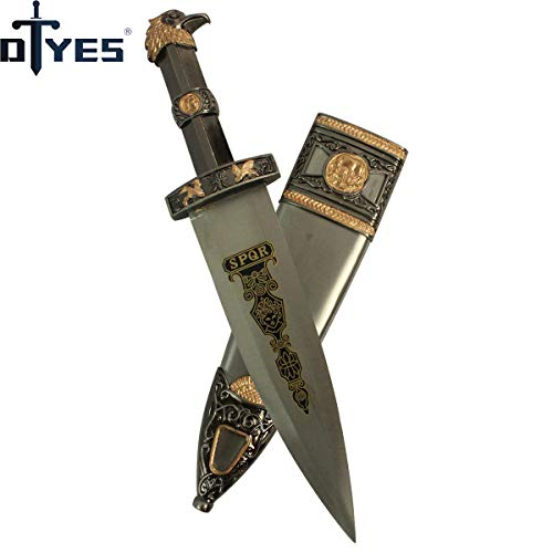 DTYES Beautiful Home Decoration Littlel Sword Stainless Steel Blade Hunting Knife Dagger Props Gift Beautiful Small Sword Cosplay Metal Swords (European and American Style Hunting Knife-Eagle)
