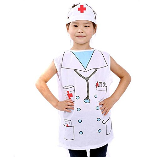 TopTie Occupations Costumes with Hats for Kids Role Play Dress Up Costume-Nurse-S