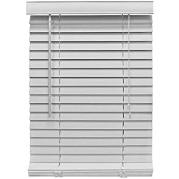 Better Homes And Gardens 2 Faux Wood Blinds White 58 X 64 Home Kitchen